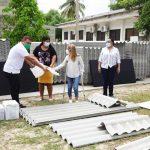 En Santo Tomás, Gobernadora realiza segunda jornada de entrega de ayudas a familias afectadas por vendaval