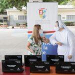 Gobernadora completó la entrega de 949 equipos portátiles a colegios públicos del Atlántico